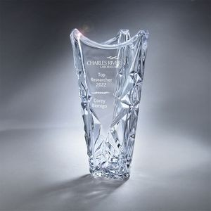 Clear Glass Sculpted Ice Vase