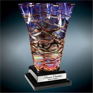 Dichroic Art Glass Vase