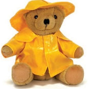 "10"" Raincoat Wearing Bear Stuffed Animal"