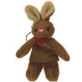 Stuffed Brown Bunny Keychain