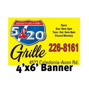 Full Color Banner 4'x6' - Vinyl