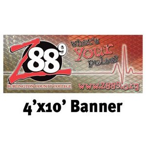 Full Color Banner 4'x10' - Vinyl